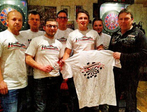 Teamtrikots für den Dartclub